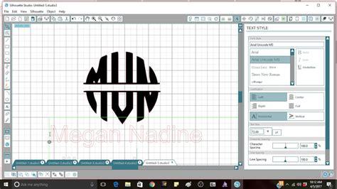 beginner circle monogram silhouette studio easy youtube
