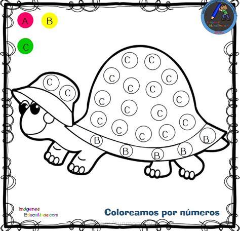Fichas para colorear por letras números y símbolos (4