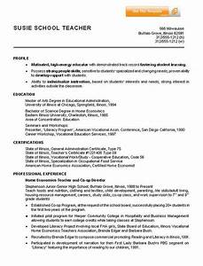 Sample Resume For It Student With No Experience Home Economics Teacher Resume Example Sample Resumes For