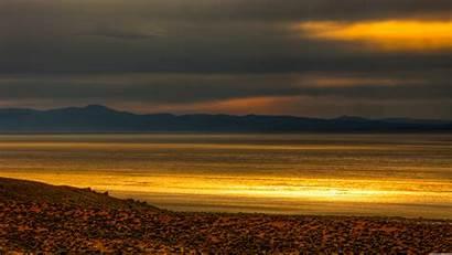 Desert Sunset Rock Glow Monitor Dual Wallpapers