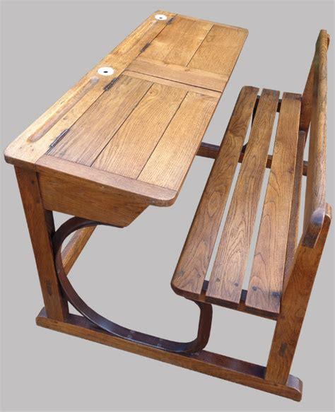 ancien pupitre d 233 colier 2 places en bois marcel roy fabricant mobilier scolaire 224