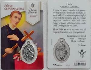 Gerard Lighting Pty Ltd St Gerard Majella Patron Saint Of Fertility Laminated