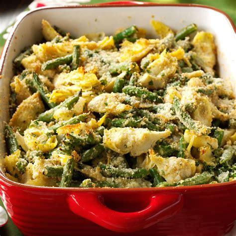 italian artichoke green bean casserole recipe taste  home