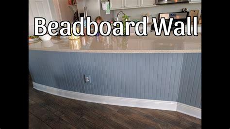 Beadboard Wall on Kitchen Island   YouTube