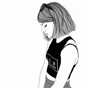 Fille Noir Et Blanc : 1001 photos de dessin noir et blanc qui vont vous aider ~ Melissatoandfro.com Idées de Décoration