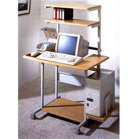easy to assemble desk computer carts gray and natural wood computer desk 2444