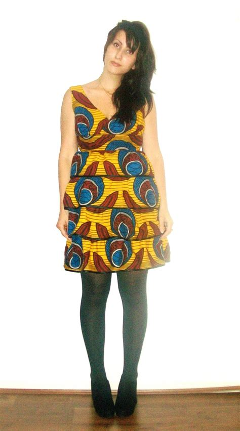 modele robe africaine moderne robe en coton africain wax ethnique chic robe par rapha couture