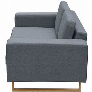 2 Sitzer Sofa Günstig : vidaxl 2 sitzer sofa stoff hellgrau g nstig kaufen ~ Frokenaadalensverden.com Haus und Dekorationen
