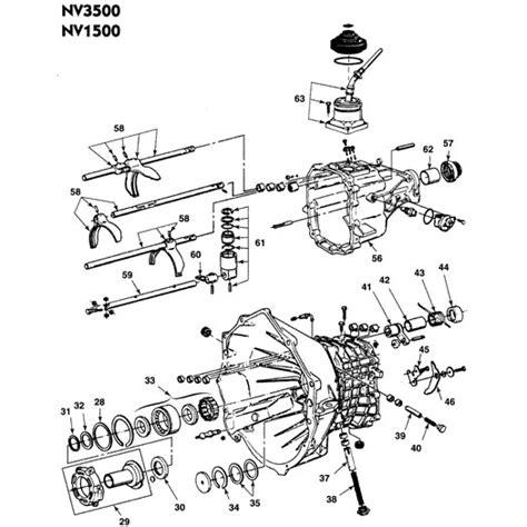 Chevy Manual Nv3500 Transmission Diagram by Nv3500 Transmission Diagram