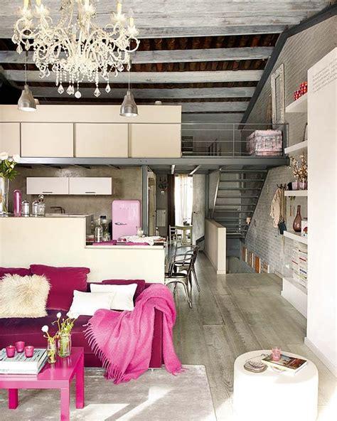 modern  vintage interior design  shades  pink