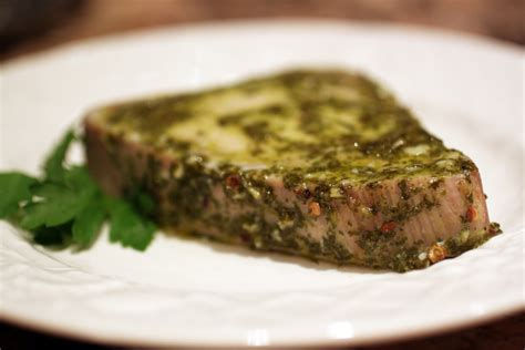 baked tuna steak baked tuna with chimichurri marinade primal palate paleo recipes