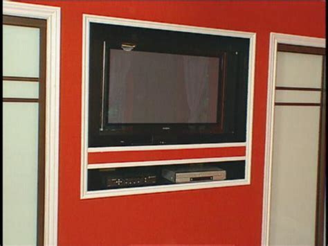 How To: Building A Recessed Home for Flat Screen TV   HGTV