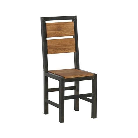 chaise en chene chaise de repas chêne et métal ferscott