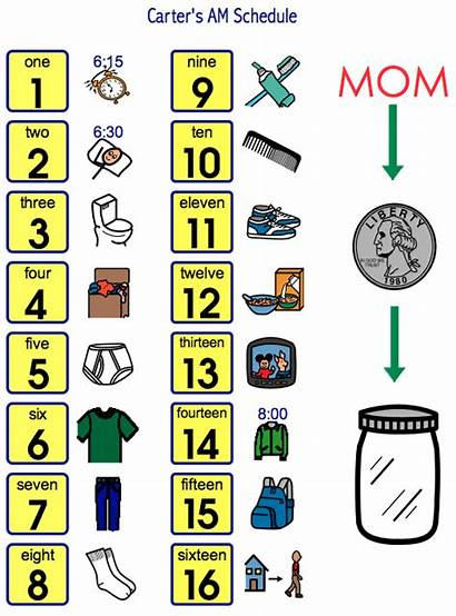 Clipart Schedule Daily Schedules Routine Clip Visual