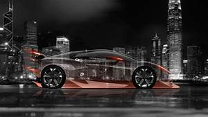4K Lamborghini Sesto Elemento Side Crystal City Car 2014