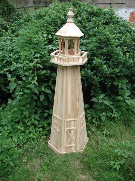 marvelous garden lighthouse  wooden lighthouse