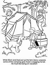 Coloring Camping Pages Printable sketch template