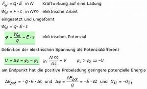 Elektrisches Potential Berechnen : statisches elektrisches feld ~ Themetempest.com Abrechnung