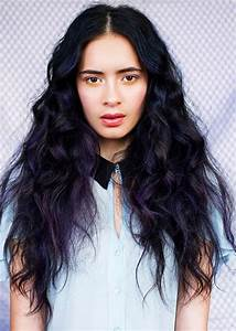 Dark Hair and Purple Highlights - Hair Colors Ideas