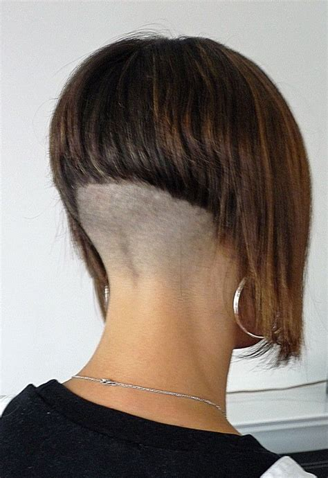 Aline With High Shaved Nape Short Bob Haircuts