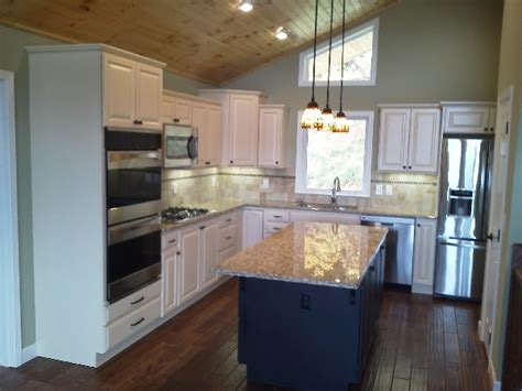 kitchen and company asheville painted maple kitchen remodeling wnc cabinetry