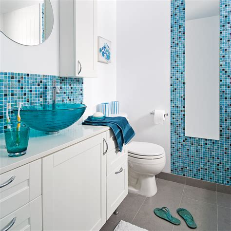 peinture de cuisine tendance faience salle de bain bleu ciel
