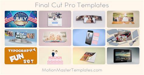 cut pro templates apple s cut pro plugins templates generators and effects