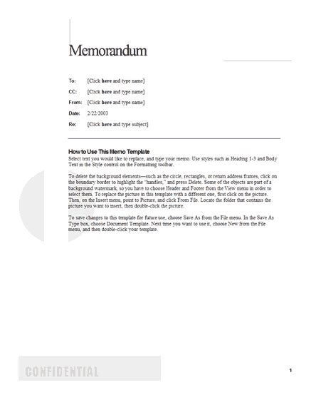 what is a business memo business memo template format example