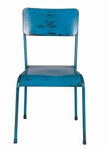 Stühle Retro Design : blaue metall esszimmer st hle m belideen ~ Pilothousefishingboats.com Haus und Dekorationen