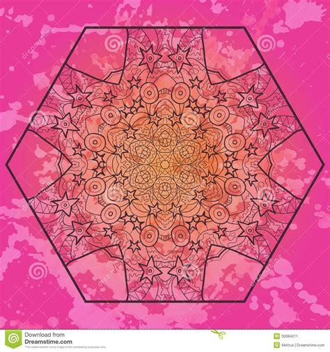oriental mandala motif in pink stock image image 30084011