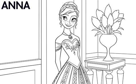 Disney's Frozen Printable Color Sheets