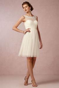 elegant short knee length a line cream tulle bridesmaid With elegant short wedding dresses