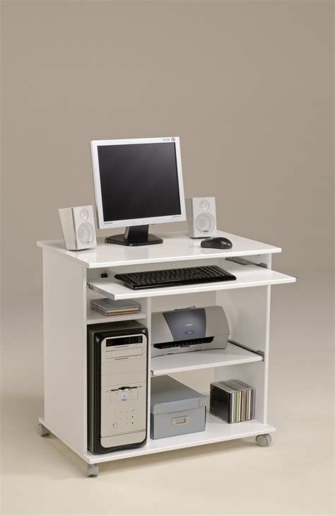 mini bureau informatique bureau informatique mobile poppy3 blanc brillant tous