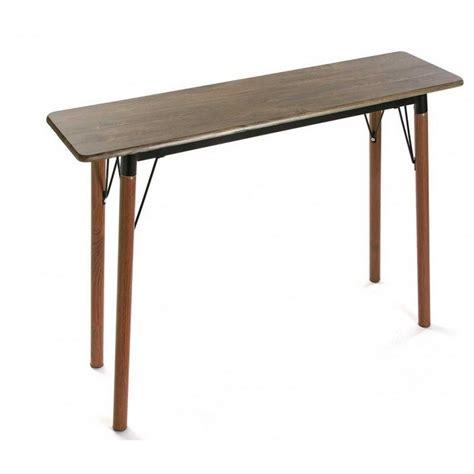 Table Console D Entree Epuree Bois Metal Noir Versa