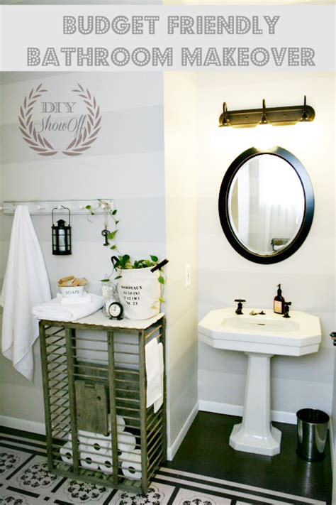 bathroom    makeover reveal shades  gray