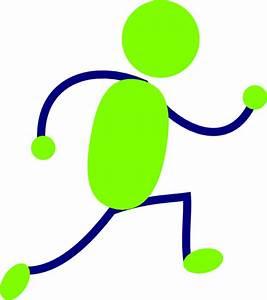 Green And Blue Running Man Clip Art at Clker.com - vector ...