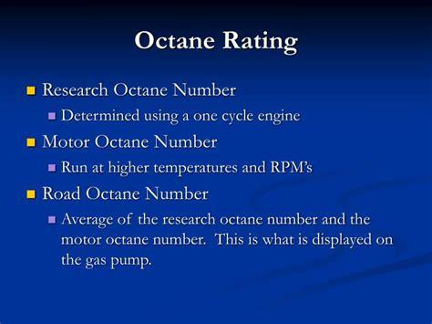 Analysis Of Octane Values Based On Gasoline