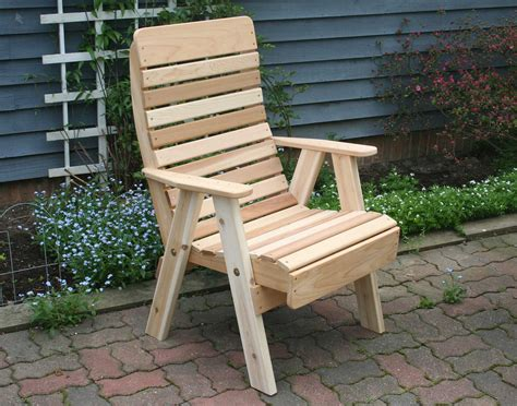 cedar royal highback patio chair