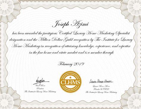 Joseph Azimi Certified Luxury Home Marketing
