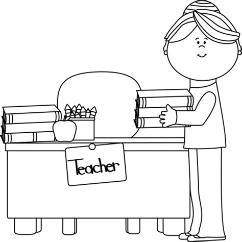 classroom clipart black and white clip images