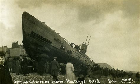 U Boats Ww1 Definition by Sussex Hastings German Submarine U Boat U118 Bow In 1919