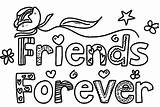 Coloring Friends Pages Forever Friend Printable Words Drawing Friendship Designs Bff Colorings Drawings Colouring Pal Colorful Draw Adults Getcolorings Template sketch template