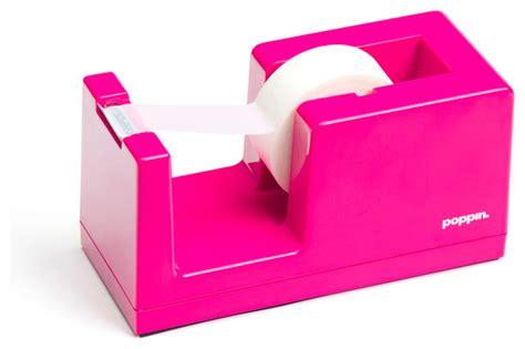 pink desk accessories dispenser pink modern desk accessories