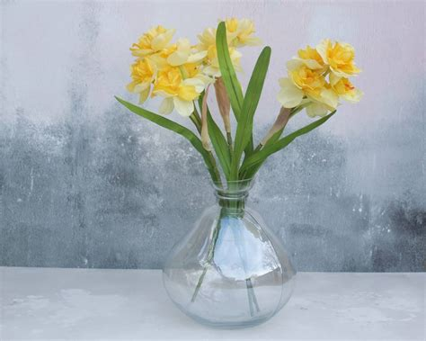 Bowl Vase by Daffodils In Bowl Glass Vase By Abigail Bryans Designs
