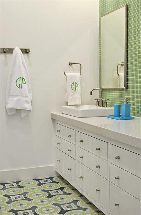 Blue And Green Kids Bathrooms  Contemporary Bathroom