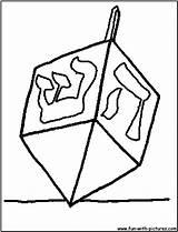 Dreidel Coloring Printable Fun Pages sketch template