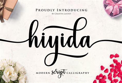 hiyida script font script fonts creative market