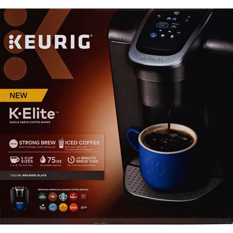 The removable drip tray also allows. Keurig Keurig K-elite Brushed Slate Brewer - Shop Appliances at H-E-B