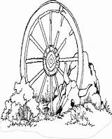 Wagon Wheel Coloring Western Pages West Clipart Wheels Drawing Colouring Sheets Covered Coloringbookfun Updated Cart Embroidery Mandala Clip Printable Books sketch template