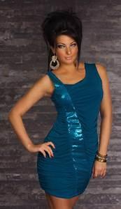 robe asymetrique courte moulante bleu petrole en sequin With robe bleu pétrole